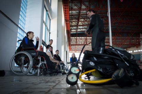 disabled people attending a brief